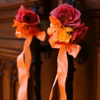 パーティー会場を彩るお花たち
