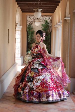 ドレスブランド「Sugar kei(シュガー ケイ)」の和柄ドレスです。