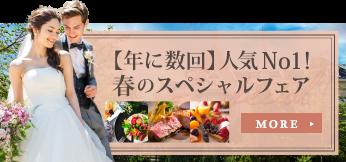【年に数回】人気No1! 春のスペシャルブライダルフェア!