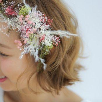 ショートヘアの花嫁さまへ*~素敵なヘアアレンジのご紹介~