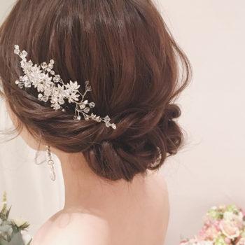 ウェディングドレスのヘアスタイル!!<br>~アップ編~