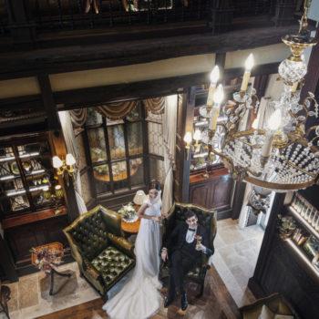 貴族の書斎をイメージしたドローイングルーム