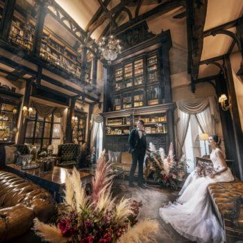 西洋貴族の書斎をイメージして造られたドローイングルーム