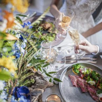 厳選食材を使った料理と美しい空間は至福の時